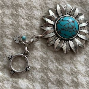 Lucky Brand Jewelry - Silver & Turquoise Lucky Brand Bracelet